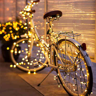 Bicycle light decorations