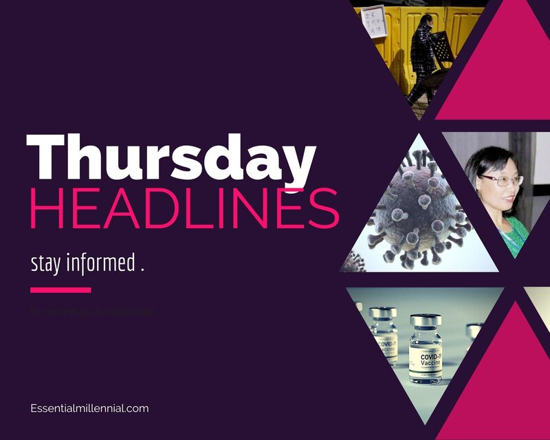 Thursday news headlines